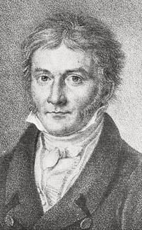 C.F. Gauss, litho by S. Bendixen (1828)